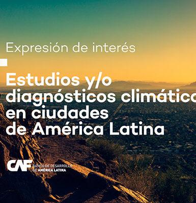 CAF divulga chamada para consultores de estudos climáticos