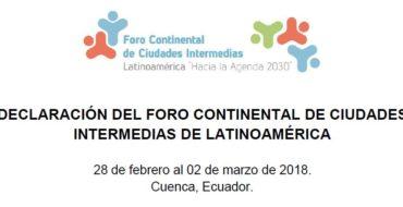 Pacto Global de Alcaldes está en la Declaración de Cuenca