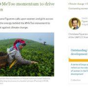 Christiana Figueres llama al liderazgo femenino contra el Cambio Climático