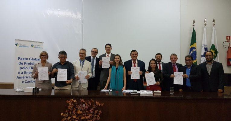 Nove cidades brasileiras aderiram ao Pacto Global de Prefeitos pelo Clima e Energia em Brasília