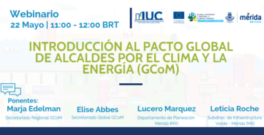 Iniciaram-se em maio os webinars do Pacto Global de Prefeitos pelo Clima e a Energia (GCoM)