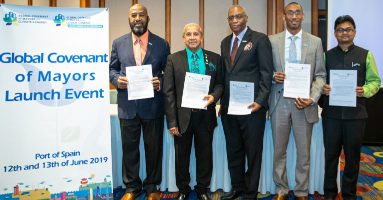 The Global Covenant of Mayors was launched in the Caribbean to support local governments to respond to climate change threats