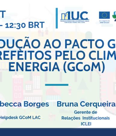 Lanzamiento de la Serie Seminarios sobre el Pacto Mundial de Alcaldes por el Clima y Energía (GCOM) en portugués