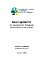 Guidance Note – Global Covenant of Mayors Common Reporting Framework (CRF)