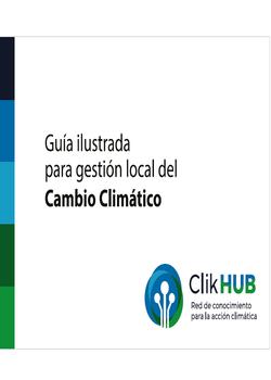 Guía Ilustrada para Gestión Local del Cambio Climático