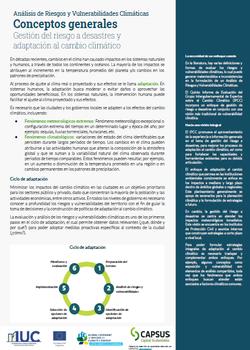 Material de Capacitación a las Ciudades Piloto de México – Analísis de Riesgos y Vulnerabilidades Climáticas (ARVC)