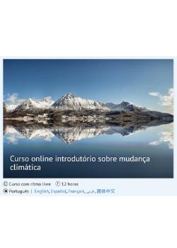 Curso online introdutório sobre mudança climática