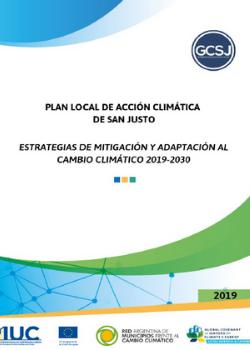 Plan de Acción Climática – San Justo, Argentina