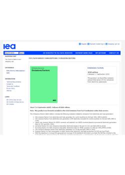 IEA Emissions Factor