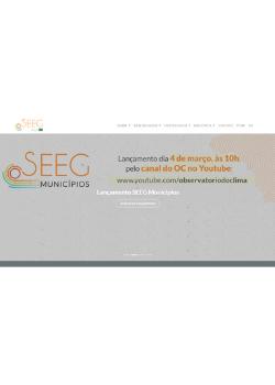 Sistema de Estimativas de Emissões e Remoções de Gases de Efeito Estufa – SEEG