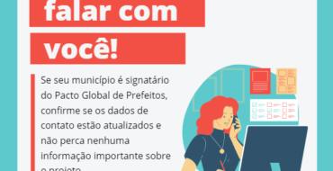 Pacto convoca signatários para atualizar informações de contato